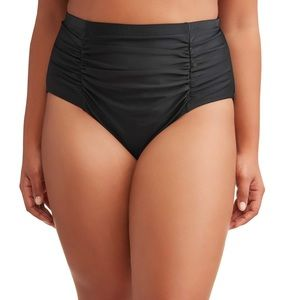Terra & Sky Women's Plus Black  Swimsuit Bottoms